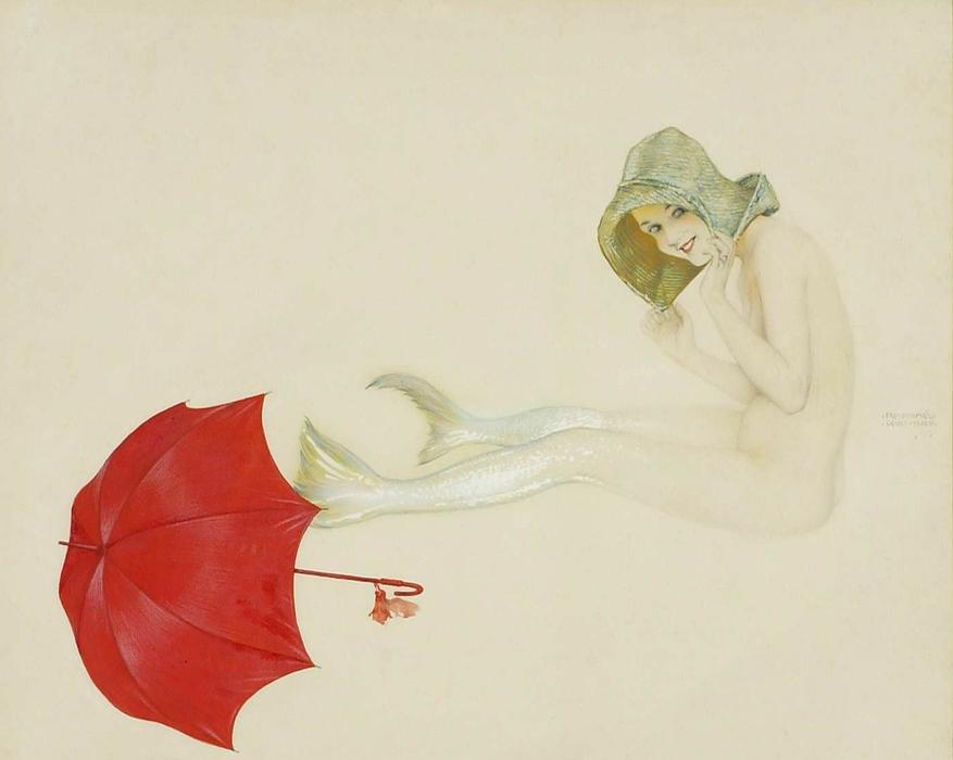 Mermaid, 1910 by Raphael Kirchner (1875-1917, Austria)