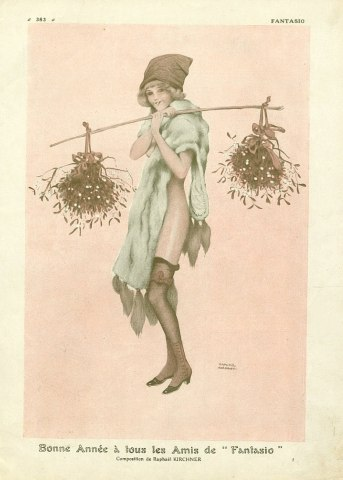 Happy New Year, 1912 by Raphael Kirchner (1875-1917, Austria)