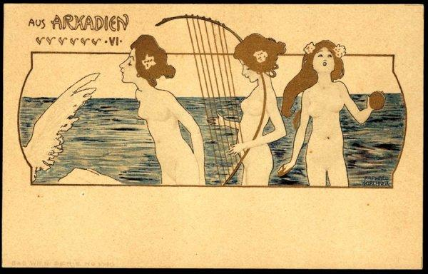 From Arcadia by Raphael Kirchner (1875-1917, Austria)