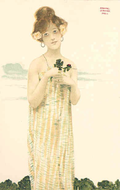 Girls with good luck charms (9) by Raphael Kirchner (1875-1917, Austria)