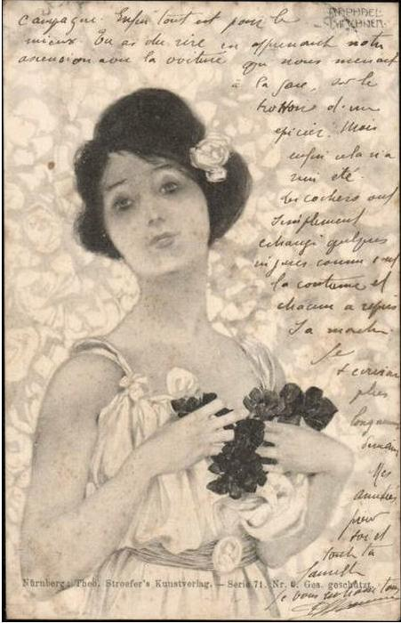 Order Painting Copy : Greek Girls by Raphael Kirchner (1875-1917, Austria) | ArtsDot.com