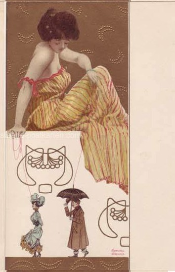 Marionettes by Raphael Kirchner (1875-1917, Austria)
