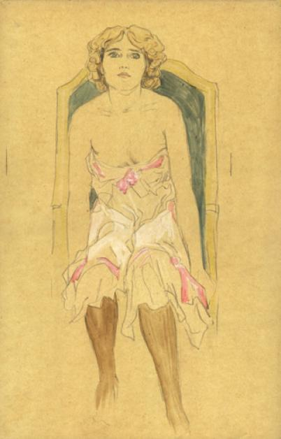 Nude Drawings by Raphael Kirchner (1875-1917, Austria)