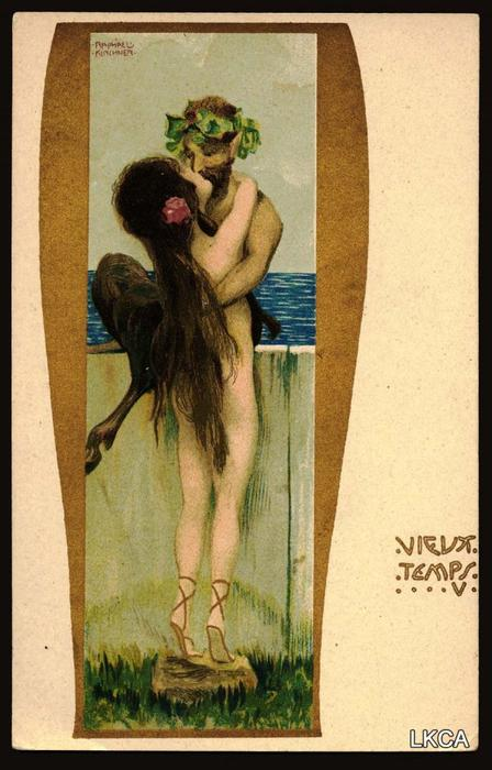 Old Times by Raphael Kirchner (1875-1917, Austria)