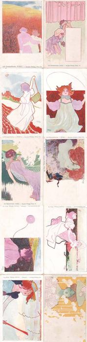 On Holiday by Raphael Kirchner (1875-1917, Austria)
