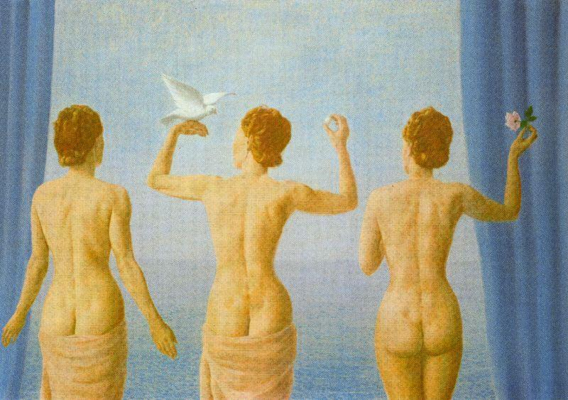 The break in the clouds (The calm), Oil On Canvas by Rene Magritte (1898-1967, Belgium)