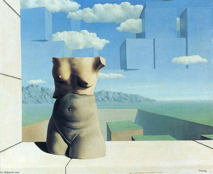 The marches of summer, Oil On Canvas by Rene Magritte (1898-1967, Belgium)