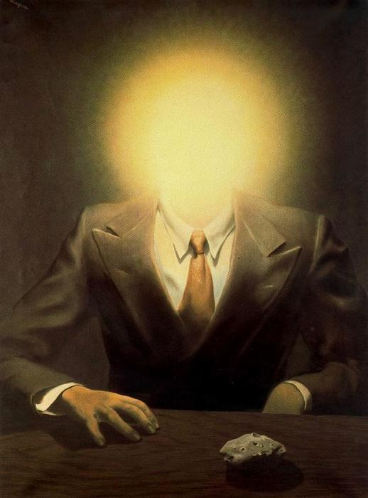 The Pleasure Principle (Portrait of Edward James), Oil On Canvas by Rene Magritte (1898-1967, Belgium)