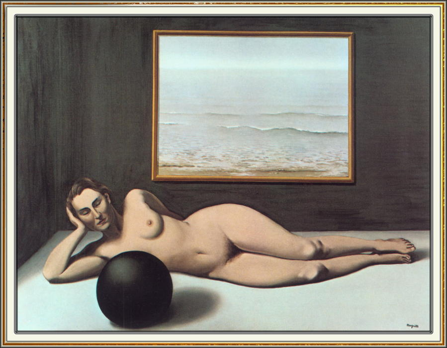 Bather between Light and Darkness, Oil On Canvas by Rene Magritte (1898-1967, Belgium)