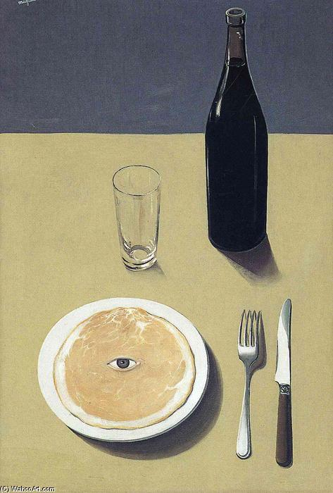 Portrait, Oil On Canvas by Rene Magritte (1898-1967, Belgium)