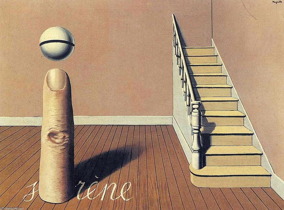 Forbidden literature (The use of the Word), 1936 by Rene Magritte (1898-1967, Belgium)