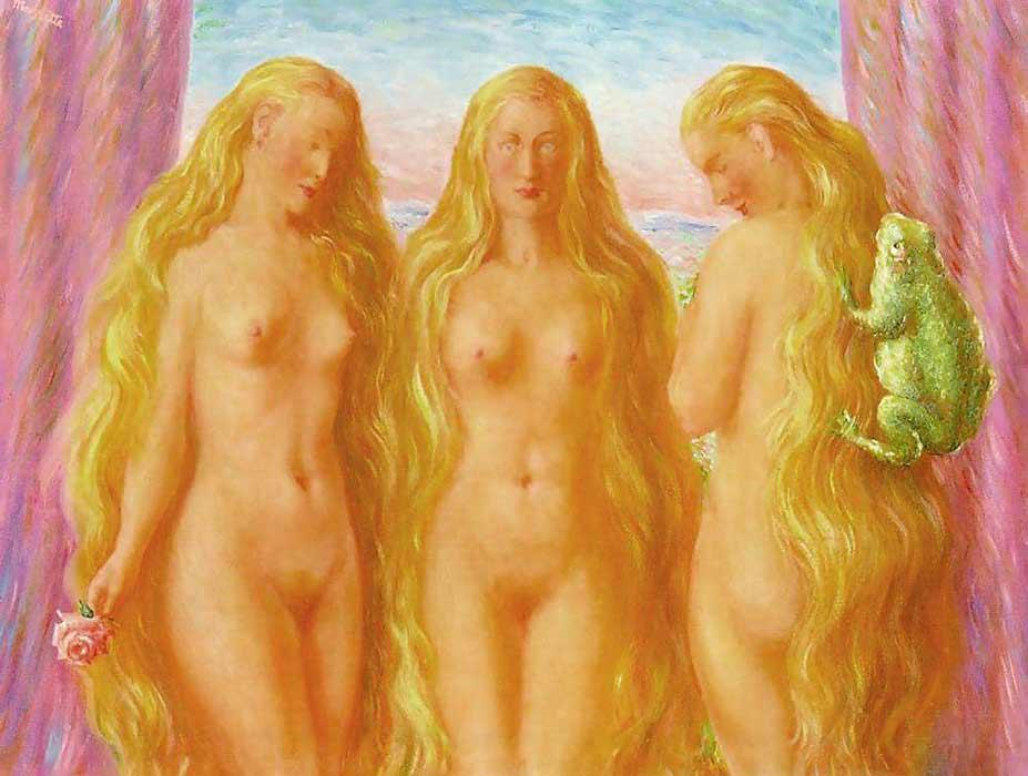 The sea of flames, Oil On Canvas by Rene Magritte (1898-1967, Belgium)