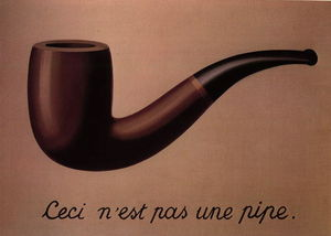 Rene Magritte - The treachery of images (This is not a pipe)