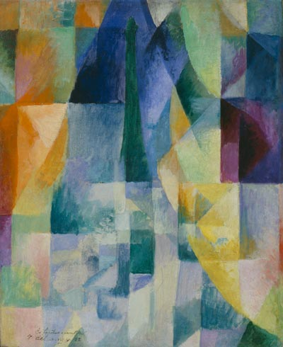 Simultaneous Windows (2nd Motif, 1st Part), 1912 by Robert Delaunay (1885-1941, France)