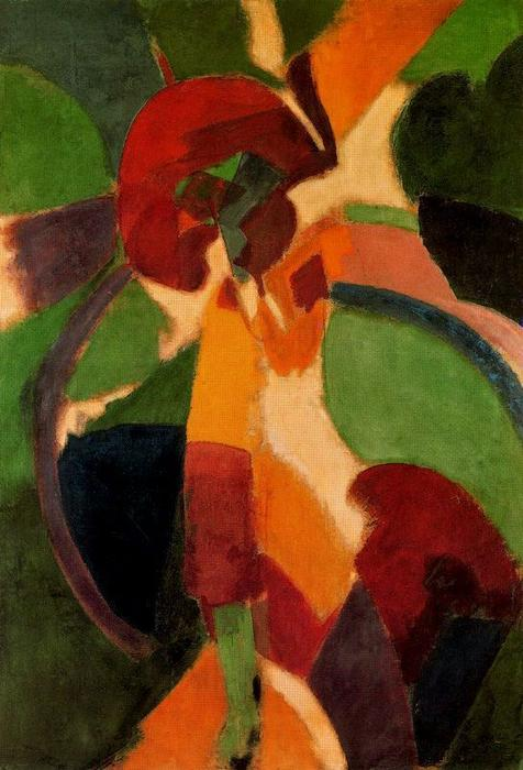 Woman with umbrella. The Parisian, 1913 by Robert Delaunay (1885-1941, France)