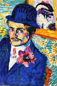 Robert Delaunay - Man with a Tulip (also kn..