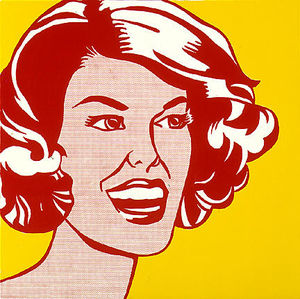 Roy Lichtenstein - Head - red and yellow