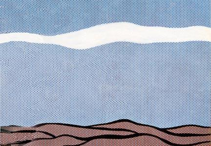 Landscape, 1964 by Roy Lichtenstein (1923-1997, United States) | Museum Quality Reproductions | ArtsDot.com