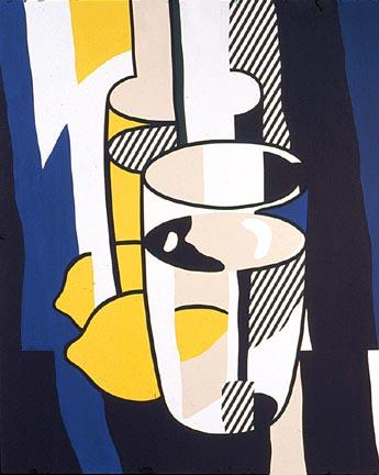 Glass and lemon in a mirror, 1974 by Roy Lichtenstein (1923-1997, United States) | Art Reproduction | ArtsDot.com