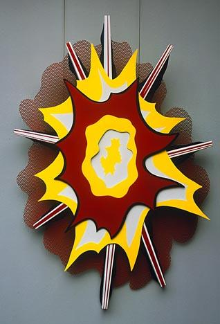 Explosion I, 1965 by Roy Lichtenstein (1923-1997, United States) | Museum Art Reproductions | ArtsDot.com