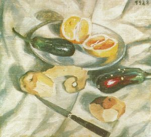 Salvador Dali - Still Life with Aubergines