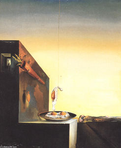 Salvador Dali - Eggs on Plate without the Flat