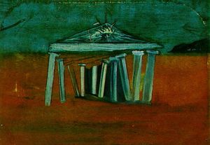 Salvador Dali - Temple - Sketch for a Set Design