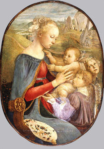 Sandro Botticelli - Madonna and Child with Two Angels