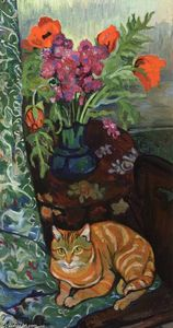 Suzanne Valadon - Bouquet and a Cat
