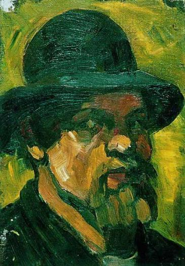 Self portrait with hat, 1909 by Theo Van Doesburg (1883-1931, Netherlands) | Museum Quality Reproductions | ArtsDot.com
