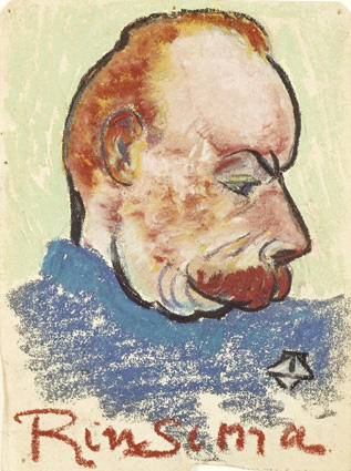 Potrait of Evert Rinsema, Pastel by Theo Van Doesburg (1883-1931, Netherlands)