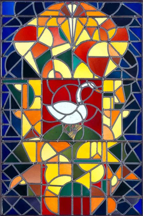 Leaded glass composition I, 1917 by Theo Van Doesburg (1883-1931, Netherlands)