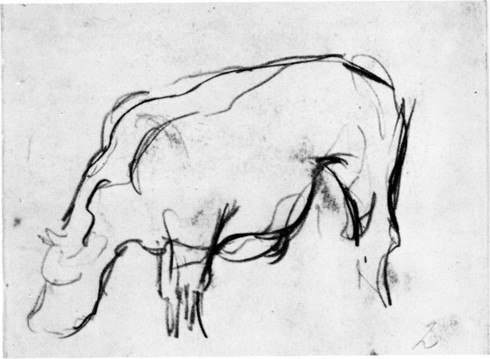 Composition (The Cow), Pencil by Theo Van Doesburg (1883-1931, Netherlands)