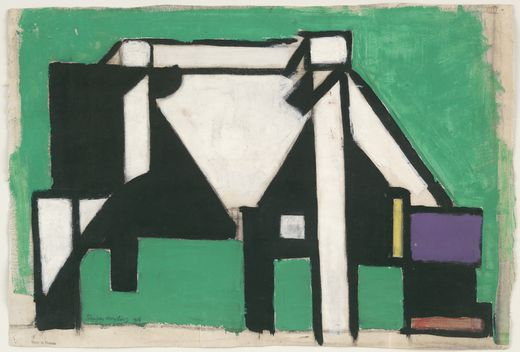 Study for Composition VIII (The Cow), Charcoal by Theo Van Doesburg (1883-1931, Netherlands)