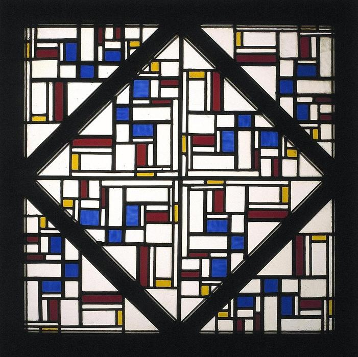 Composition with window with coloured glass III, 1917 by Theo Van Doesburg (1883-1931, Netherlands)