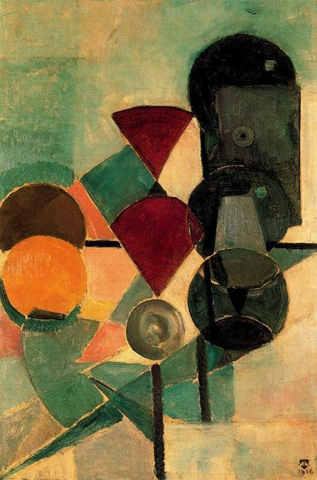 Composition II (Still life), Oil On Canvas by Theo Van Doesburg (1883-1931, Netherlands)