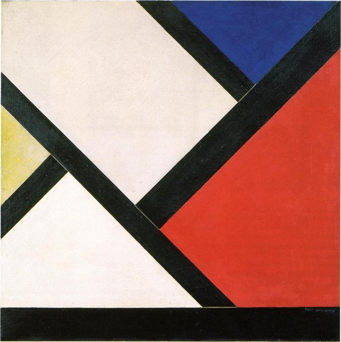 Counter composition XIV, Oil On Canvas by Theo Van Doesburg (1883-1931, Netherlands)