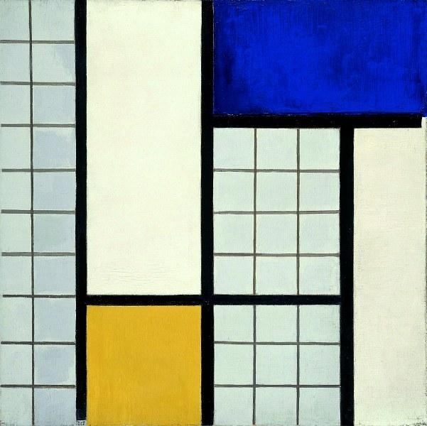 Composition with half values, Oil On Canvas by Theo Van Doesburg (1883-1931, Netherlands)