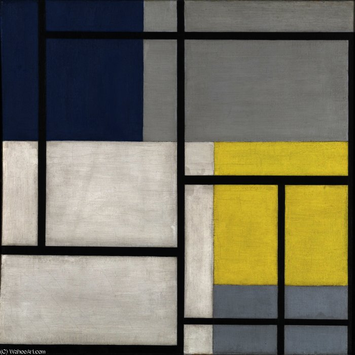 Simultaneous Composition XXIV, Oil On Canvas by Theo Van Doesburg (1883-1931, Netherlands)
