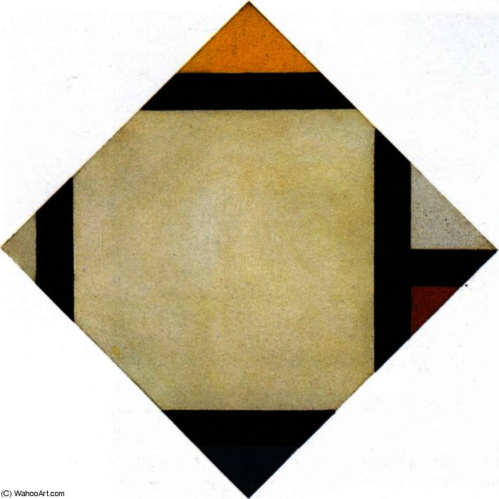 Counter composition VII, Oil On Canvas by Theo Van Doesburg (1883-1931, Netherlands)