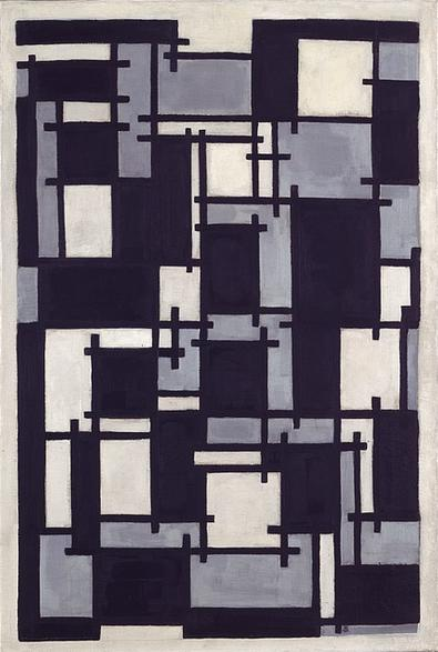 Composition X, 1918 by Theo Van Doesburg (1883-1931, Netherlands) | Oil Painting | ArtsDot.com