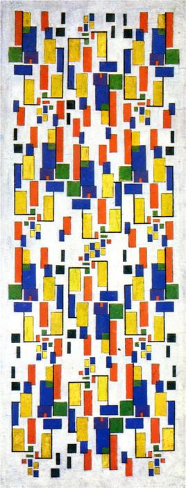 Colour design for a chimney, 1917 by Theo Van Doesburg (1883-1931, Netherlands)