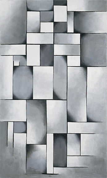 Composition in gray (Rag Time), Oil On Canvas by Theo Van Doesburg (1883-1931, Netherlands)