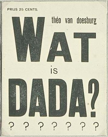 Cover of ``What is dada``, 1923 by Theo Van Doesburg (1883-1931, Netherlands) | Oil Painting | ArtsDot.com