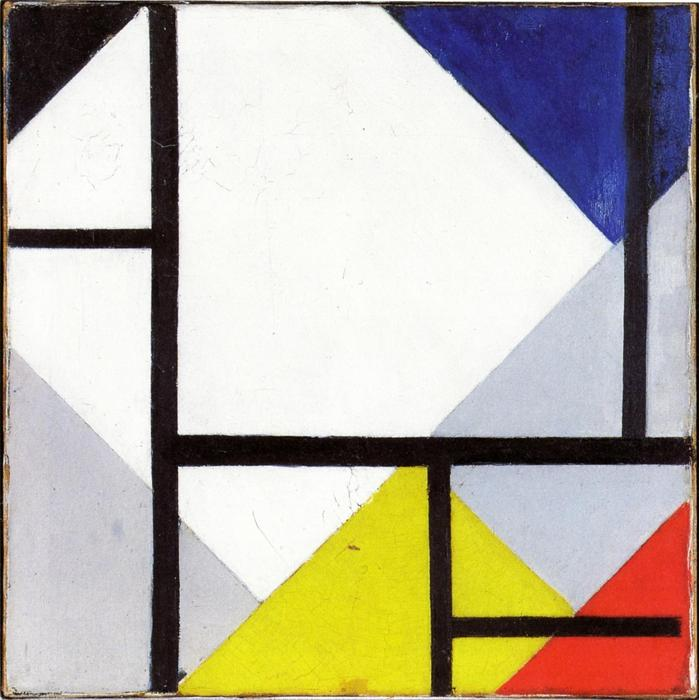 Simultaneous Counter Composition, 1929 by Theo Van Doesburg (1883-1931, Netherlands) | Museum Art Reproductions | ArtsDot.com