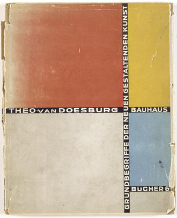 Cover of 'Basic concepts of the new creative art', Lithography by Theo Van Doesburg (1883-1931, Netherlands)