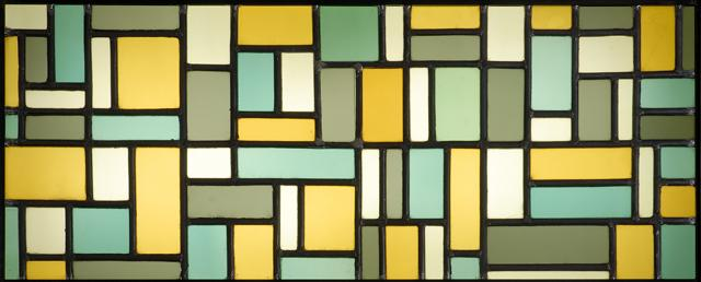 Stained glass composition VIII by Theo Van Doesburg (1883-1931, Netherlands)