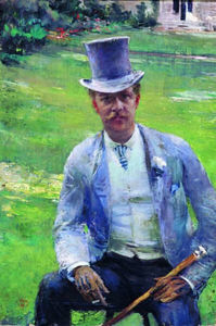 Theo Van Rysselberghe - Portrait of Octave Maus as Dandy