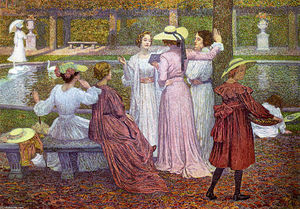Theo Van Rysselberghe - A Reading in the Garden