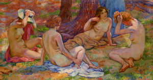 Theo Van Rysselberghe - Four Bathers